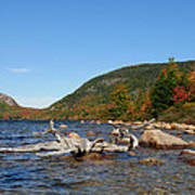 maine 1 Acadia National Park Jordan Pond in Fall Art Print