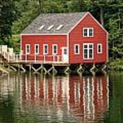 Maine Boat House Art Print
