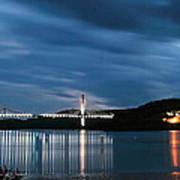 Maine Bridge And Fort Knox  Art Print