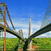 Maine Bridges Art Print