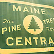 Maine Central The Pine Tree Route Art Print