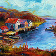 Maine Harbor Art Print