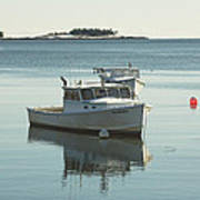 Maine Lobster Boats In Winter Art Print