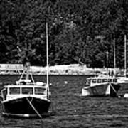 Maine Lobster Boats Art Print