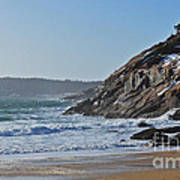 Maine Surfing Scene Print by Meandering Photography