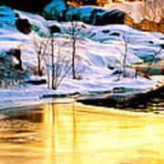 Maine Winter Along The Androscoggin River Art Print