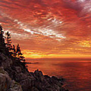 Maine's Bold Coast Art Print by Chad Tracy