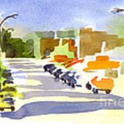 Main Street In Evening Shadows Art Print