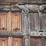 Maison De Bois Macon - Detail Wood Front Art Print