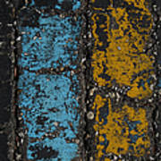 Maize And Blue 2 Art Print