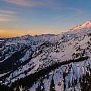 Majestic Mount Baker Sunrise Light Art Print