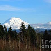 Majestic Mount Rainier Art Print