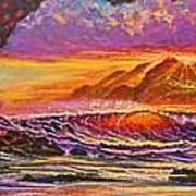Majestic Purple Sunset  Art Print