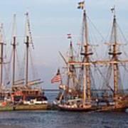Majestic Tall Ships Art Print