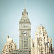 Majestic Vintage Buildings Chicago Art Print