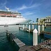 Majesty Of The Seas Docked At Key West Florida Art Print