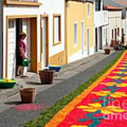 Making Flower Carpets Art Print