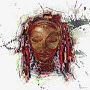 Makonde Mapiko - Lipiko Mask Art Print