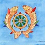 Makya Golden Fish Art Print