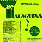 Malaguena Art Print