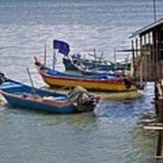 Malaysian Fishing Jetty Art Print