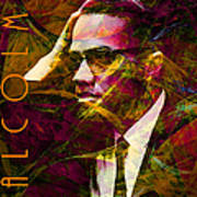 Malcolm X 20140105 With Text Art Print by Wingsdomain Art and Photography