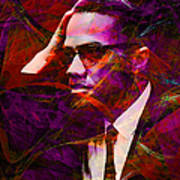 Malcolm X 20140105m28 Art Print by Wingsdomain Art and Photography