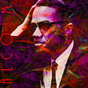 Malcolm X 20140105m28 With Text Art Print