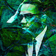 Malcolm X 20140105p138 Art Print by Wingsdomain Art and Photography