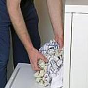 Male Doing Laundry Art Print
