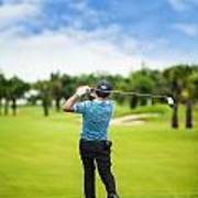 Male Golf Player  Art Print