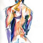Male Nude Back Torso Art Print