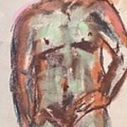 Male Seafoam And Violet Brown Art Print
