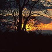 Malevolent Sunset Art Print