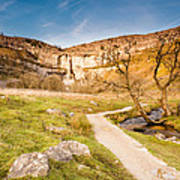 Malham Cove In Malhamdale Art Print