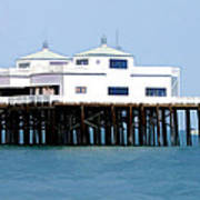 Malibu Pier On A California Blue Sky Day Art Print