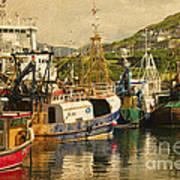 Mallaig Harbourside  Art Print