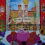 Mallorca, Spain, 2012 Acrylic On Canvas Art Print
