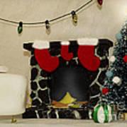 Mallow Christmas Art Print
