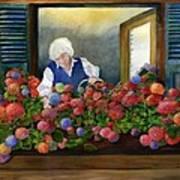 Mama's Window Garden Art Print
