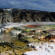 Mammoth Hot Springs Art Print
