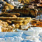 Mammoth Hot Springs Rock Formation No1 Art Print