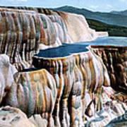 Mammoth Hot Springs Yellowstone Np Art Print
