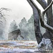 Mammoth In The Distance Art Print