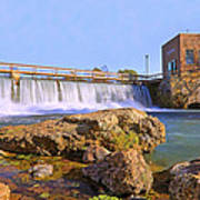 Mammoth Spring Dam And Hydroelectric Plant - Arkansas Art Print