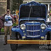 Man And His Jeep Art Print
