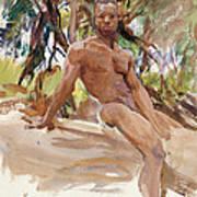 Man And Trees. Florida Art Print