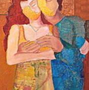 Man And Woman Art Print by Debi Starr