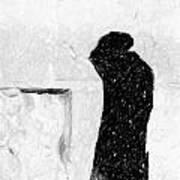 Man At Western Wall Art Print