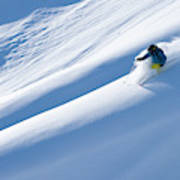 Man Big Mountain Skiing In The Chilkat Art Print